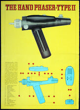 STAR TREK POSTER . THE HAND PHASER . 2A