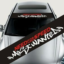 Etneedforspeed Reflective Front Rear Windshield Banner Decal Car Stickers