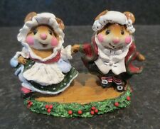 Wee Forest Folk WFF The Fezziwigs CC - 7 CC7 Collectible Mouse Figurine Carol