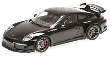 MINICHAMPS 2013 PORSCHE 911/ 991 GT3 BLACK METALLIC 1:18 Rare LE 300pcs*New!
