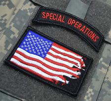 JSOC SEAL SPECIAL WARFARE NINJA BLK OPS PENCIL POCKET SSI: War Flag + SP OPS Tab