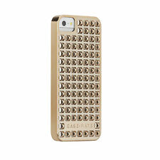 Case-Mate iPhone 5 / 5S Modern Barely There Gold Pyramid Studded Protective Case