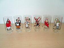 SET- 1975 COCA COLA/KING FEATURES *POPEYE* PROMO GLASSES. KOLLECT A SET SERIES.
