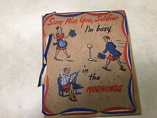 WW2 Sure Miss You Soldier Greeting Card NOS