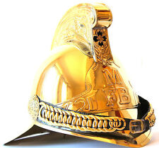 Solid Brass English Fireman Helmet MFB