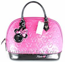 NEW Disney Loungefly PINK Minnie Loves Mickey Embossed Bowling Bag Satchel Purse