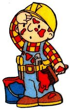 "2.5"" BOB THE BUILDER FABRIC APPLIQUE IRON ON CHARACTER"