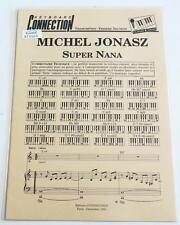 Partition sheet music MICHEL JONASZ : Super Nana * 80's Clavier Chant