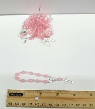 Bracelet Rosary 10 beads in Pink plastic-bunch of 10 pcs -Rosario de 10 pzs