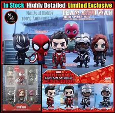 IN STOCK Hot Toys Civil War Cosbaby Figure Set of 6 Spider-man Limited Exclusive