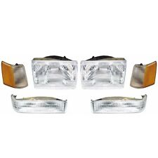 Headlight Set - Fits 93 94 95 96 Jeep Grand Cherokee Headlamp