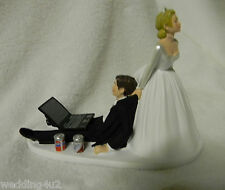 Wedding Party Reception ~Soda Cans~  Computer Laptop Video Game Cake Topper