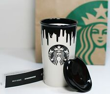 Starbucks Limited Edition Band of Outsiders Mug - Black Drip Coffee Tumbler 12oz