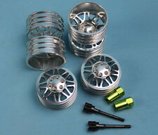 alloy 1.9 wheel rim set (2 front + 2 dually rear) for RC4WD rc cars Silver