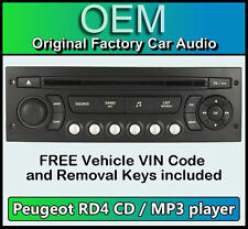 PEUGEOT Expert STEREO AUTO MP3 CD PLAYER CITROEN RD4 Radio + GRATIS CODICE VIN