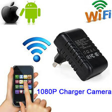 US Plug WiFi HD 1080P Wall Charger Adapter Hidden IP Camera Adaptor Spy Cam DVR