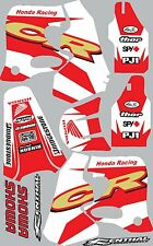 1993-1994 Honda CR125 CR 250 125 shrouds fender plastic Graphics Decal Stickers