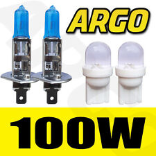 H1 XENON SUPER WHITE 100W BULBS FRONT FOG LIGHT 12V HID LOOK X 2 / PAIR LAMP UK