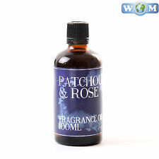 Patchouli & Rose 100ml Fragrance Oil for Soap, Bath Bombs (FO100PATCROSE)