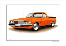 HOLDEN  HQ HJ HX HZ WB STATESMAN  UTE  LIMITED EDITION CAR PRINT