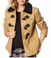 NWT JUICY COUTURE SzL WOOL SHORT SWING COAT SOFT CAMEL $348.