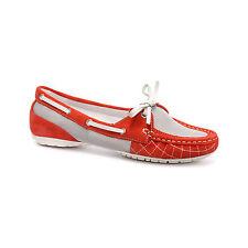 Rockport Mujer Zapatos Náuticos Etty Cosido Zapatos Náuticos rosa salmón-Size UK 6