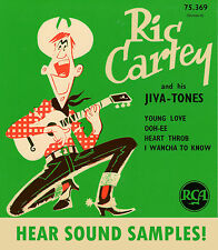 ROCKABILLY EP REPRO: RIC CARTEY & HIS JIVEA-TONES - Ooh EE/Heart Throb + 2  RCA