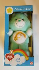 """Care Bears 20th Anniversary """"Wish Bear"""" Collector's Edition Plush NEW IN BOX"""