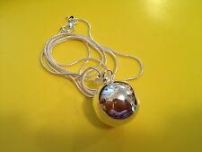 Pregnancy Angel Ringing Bell Harmony Ball 925 Silver Free Necklace 30 inches.