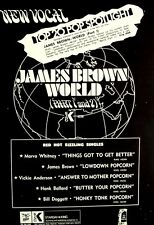 JAMES BROWN 1969 Poster Ad WORLD