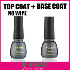 RS Gel Nail Varnish Top it Off Top Coat and Foundation Base Coat UV LED Varnish