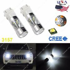 2x White 100W CREE LED Daytime Running Light Bulbs 2011 up Jeep Grand Cherokee