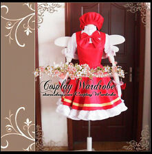 Clamp Card Captor Sakura Cosplay Costume Red Outfit Lolita Dress Lovely Hat