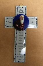 7 Inch ST. BENEDICT CATHOLIC Wall CROSS Protection Exorcism WITH Prayer on Front