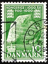 POSTAGE STAMP DENMARK VINTAGE JELLING RUNIC STONE PHOTO PRINT POSTER BMP1384A
