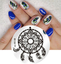 BORN PRETTY Round Nail Art Stamping Plate Dreamcatcher Design Image Template 04