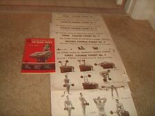 6 ORIGINAL Joe Weider Wall Charts Weider System Of Progressive Barbell Exercise