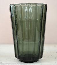Rauchglas Vase Becher gerippt aus der Art Deco Zeit WMF?