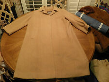 Vtg BURBERRYS Prorsum Pure CAMEL HAIR Swing Coat Overcoat Made England 14 Long