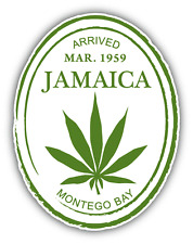 "Jamaica Montego Bay Grunge Travel Stamp Car Bumper Sticker Decal 4"" x 5"""