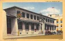 Colon Panama YMCA Building Linen Antique Postcard J45189