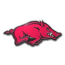 Arkansas Razorbacks Die-Cut Metal Color Auto Emblem - Decal , Sticker