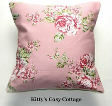 """16"""" New Shabby chic pretty pink floral fabric cushion cover"""