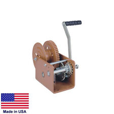 "HAND WINCH Trailer Winch - Commercial - 2,500 Lb Cap - Holds 34 Ft of 5/16"" Rope"