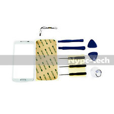 Front Glass Screen + Sensor Cable For White Samsung Galaxy S4 GT-I9515 SGH-I337M