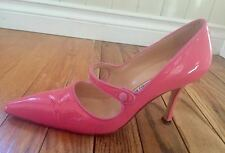 Manolo Blahnik pink patent leather heels. Size 38.5