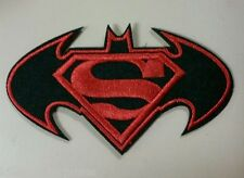 Superman vs Batman Logo Embroidered Iron On Patch DC Movie Emblem