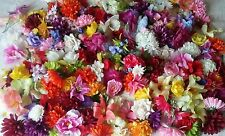 100 artificial flower heads joblot wholesale fake silk craft flowers Christmas