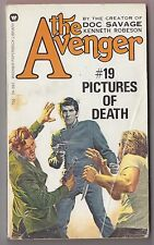 The Avenger #19 Pictures of Death - Kenneth Robeson Warner 75393 1973 Paul Ernst