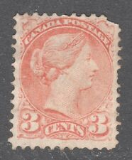 CANADA STAMP #37 --- 3c SMALL QUEEN - UNUSED